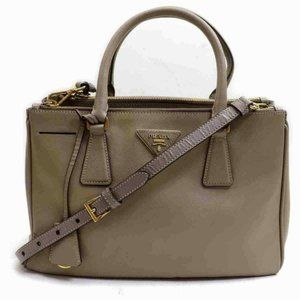 Prada Double Zip Lux Tote Saffiano Leather Light